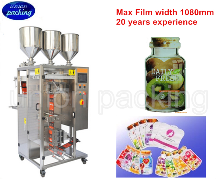Automatic irregular shaped hair dye shampoo packing machine
