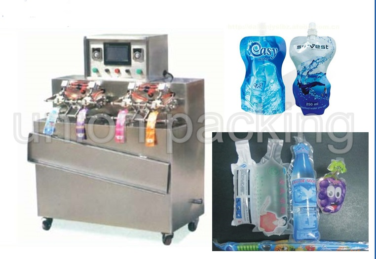 four nozzle coconut drink filling packing machine