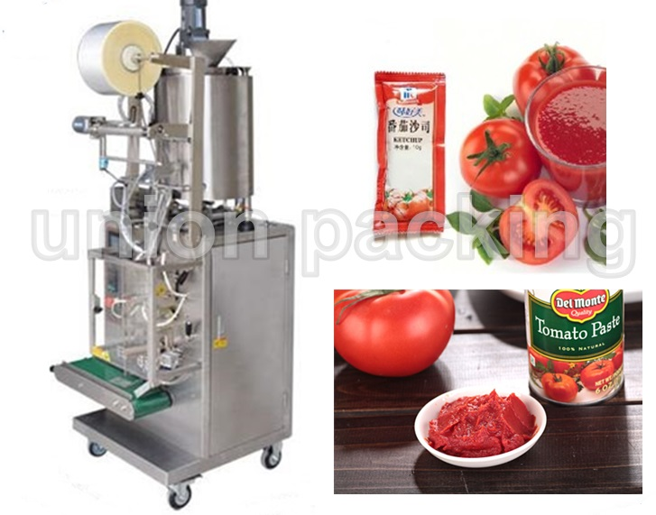 Automatic tomato ketchup packing machine in the Chile