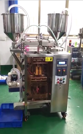 Automatic Two lanes natural black hair shampoo packing machine